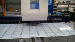 CNC punching alumnium sheet