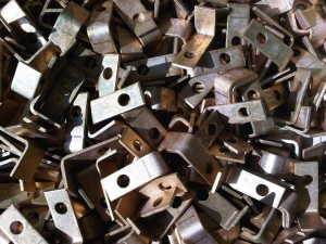 Copper angle brackets