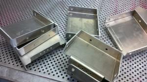Welded aluminium brackets