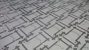 CNC punched Zintec brackets