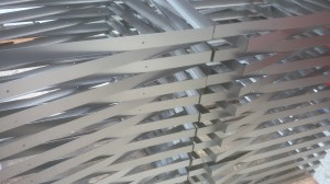 Laser cut thin mild steel sheet