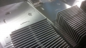 Laser cut aluminium mounting plates