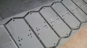 Zintec CNC punched brackets