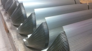 Folded mild steel sections
