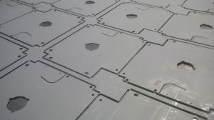CNC punched zintec sheet metal