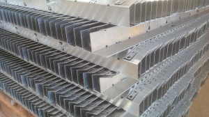 Folded aluminium sections