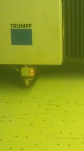 Laser cutting the chassis brackets