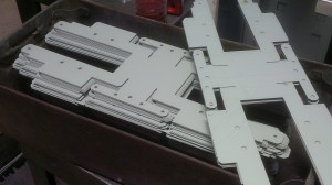Laser cut chassis blanks ready for bending