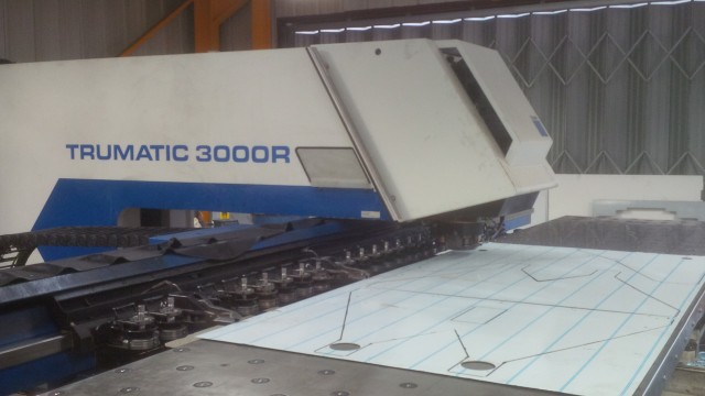 CNC punching stainless steel panels