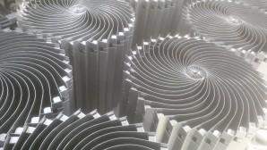 Folded mild steel sheet metal work