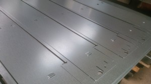 CNC punched mild steel panels