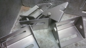 Folded sheet metal brackets