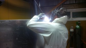 Welding aluminium housing
