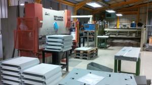 Sheet metal CNC bending facility in Fareham, Hampshire, UK