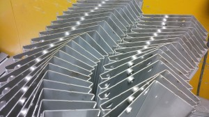 Folded sheet metal sections