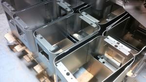 Sheet metal spot welded fabrications