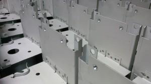 Sheet metal work spot welded assembly