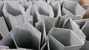Folded sheet metal work