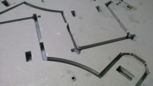 CNC punched 0.9mm zintec lighting gear trays