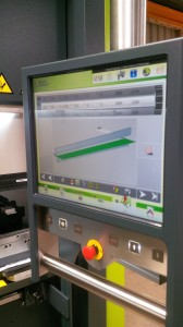 CNC programming on a Safan e-Brake