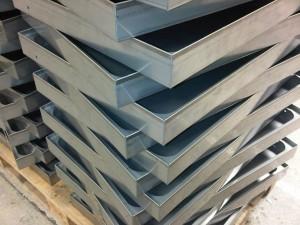 Folded stainless steel housings