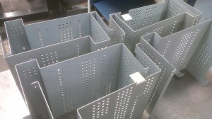 Folded sheet metal chassis housings