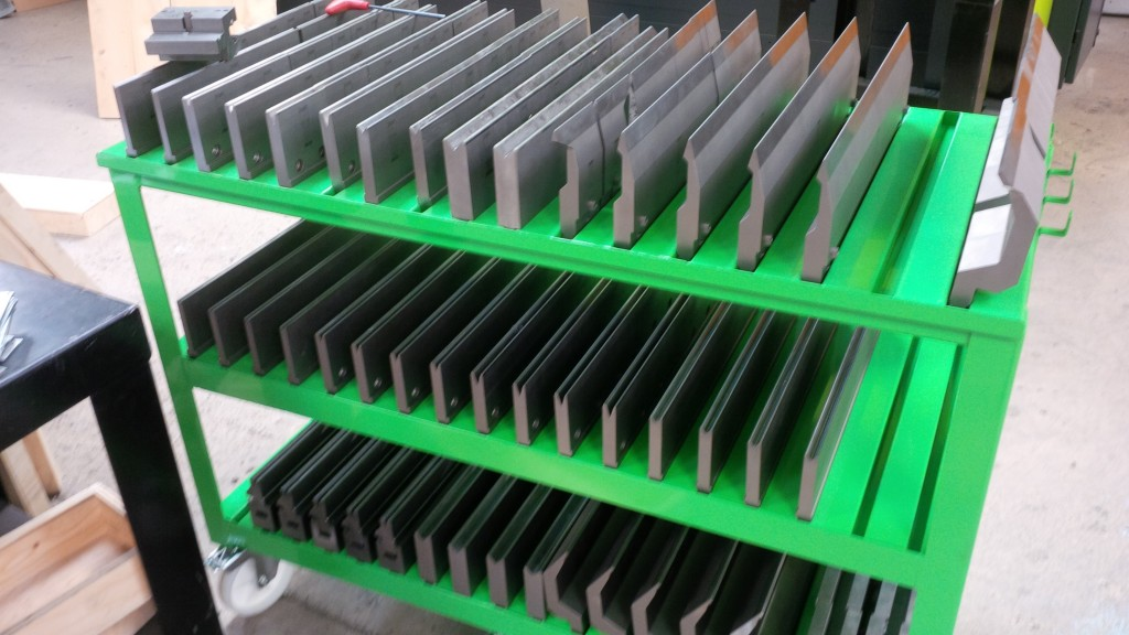CNC press brake tooling rack