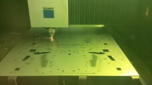 Laser cutting steel sheet metal work