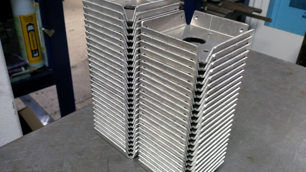 Folded sheet metal trays