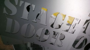 Laser cutting sign letters