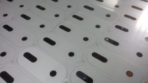 Laser cutting stainless steel sheet
