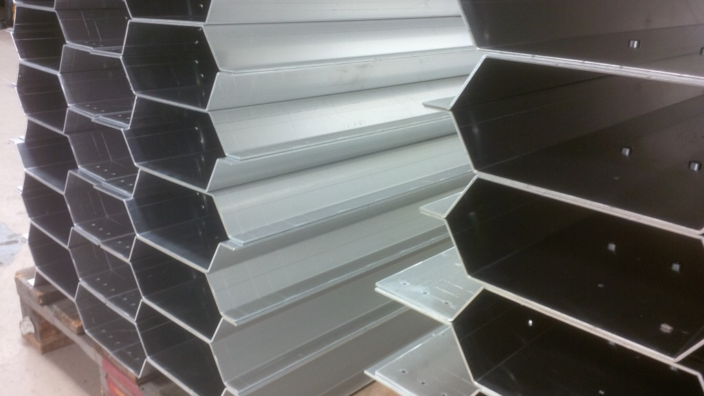 Folding sheet metal work