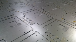 CNC punched sheet metal electronics chassis