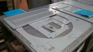 Laser cutting sheet metal sets