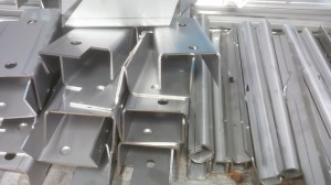 Laser cutting stainless steel channels