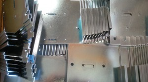 Laser cutting sheet metal gear trays