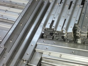 Laser cutting stainless steel sheet metal channels
