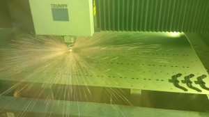 Laser cutting sheet metal brackets