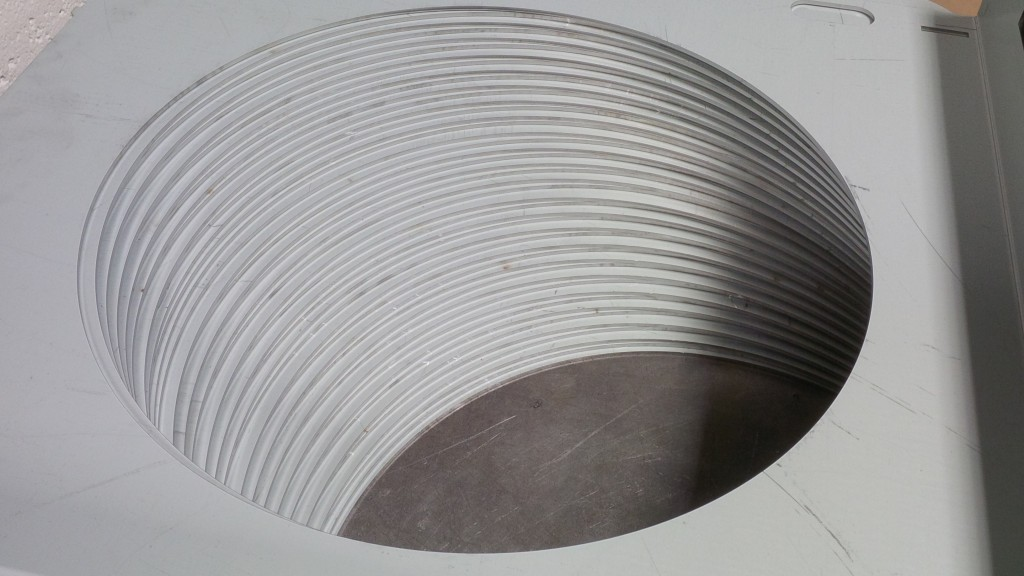 Laser cutting circles in sheet metal