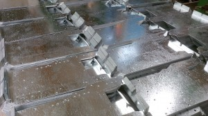 Light fitting galvanised mild steel gear plates