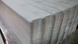 Sheet metal plates made from pre-cut zintec blanks