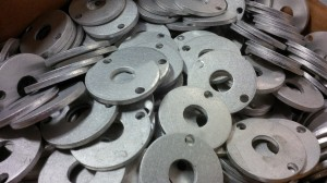 CNC punched motor support discs