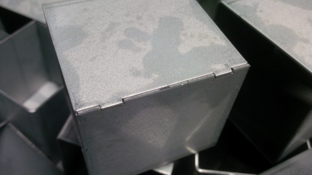 Welding production aids CNC punched into components