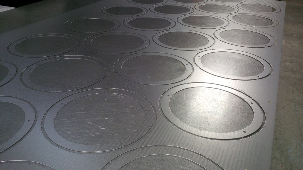 CNC punched sheet metal circles