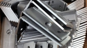 Laser cut and folded mild steel brackets