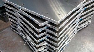 Folded aluminium sheet metal trays