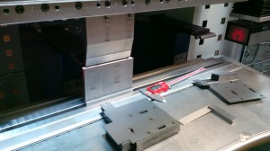 CNC press brake tooling with mild steel brackets