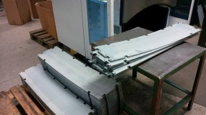 Sheet metal blanks ready for bending