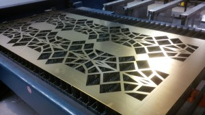 Complete brass laser cut panels