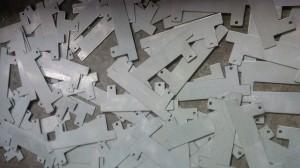 CNC punched zintec plates